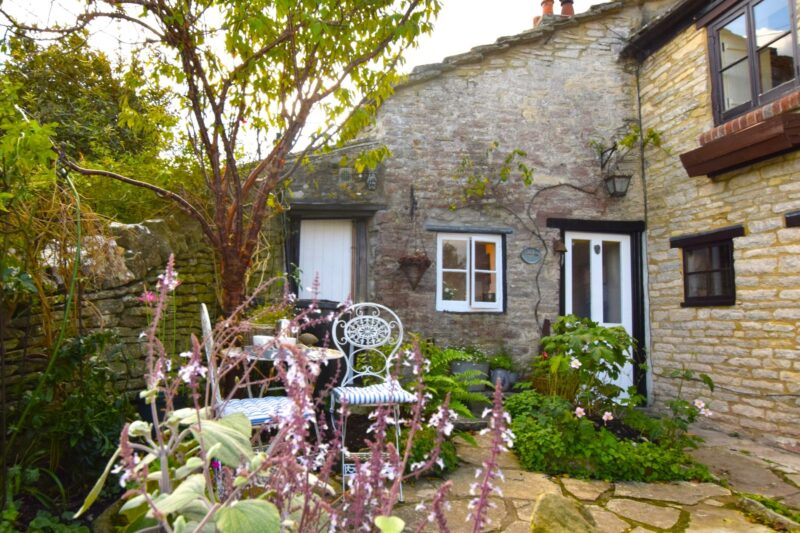 View towards the charming Grade II listed cottage