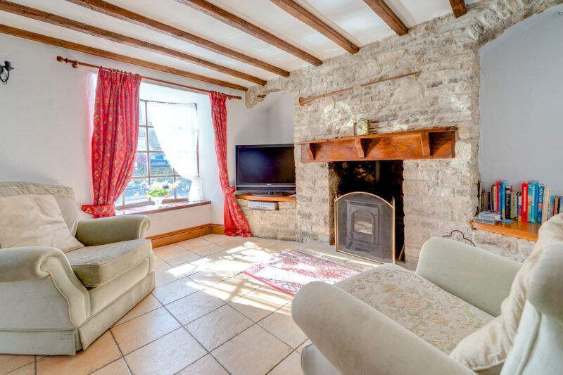 Cosey lounge with wood burner